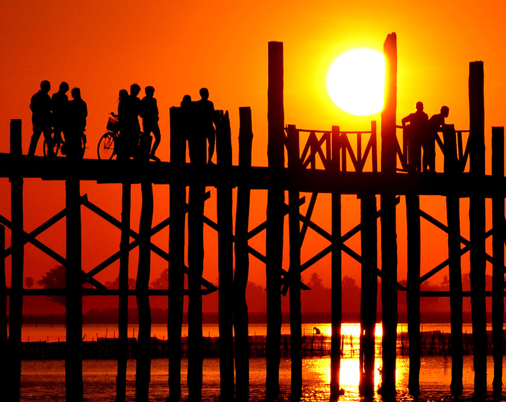 U Bein Bridge near Amarapura, Myanmar - Photo Credit: Matt from  The Travel Blogs