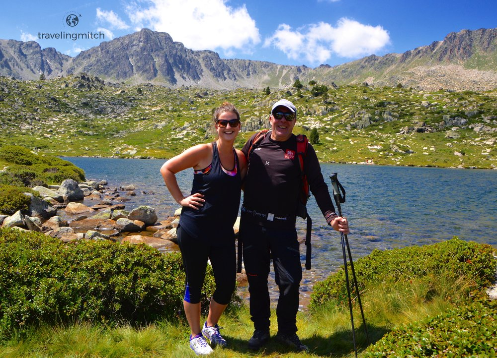 Bri hiking with Joan Maria from Hotel Piolets Park & Spa