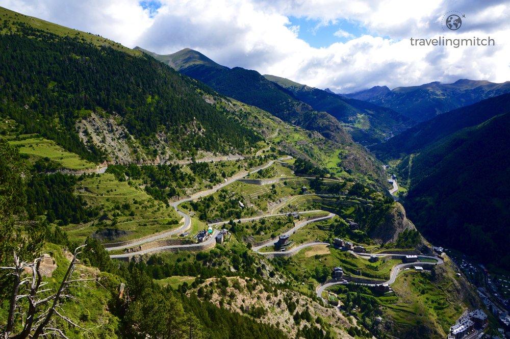 The views from Mirador Roc Del Quer in Andorra