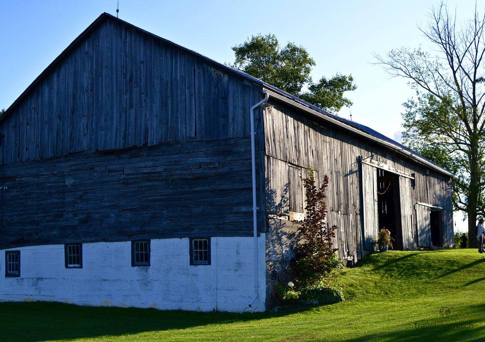 The barn on Hayfield Farm in Orono, Ontario