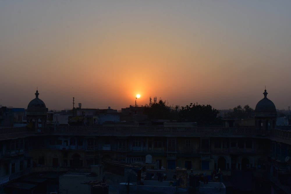 A Delhi Essay - A dusty sunset from a rooftop near Chandi Chowk