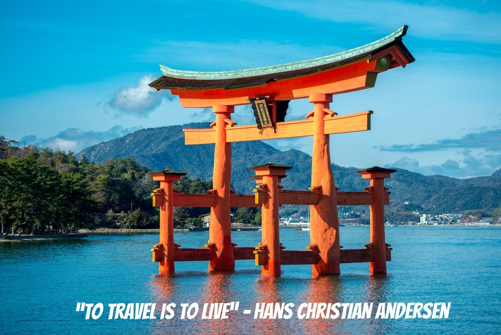 Ancient Travel Quotes - Japan, Japanese, Travel, Hiroshima, Landmark