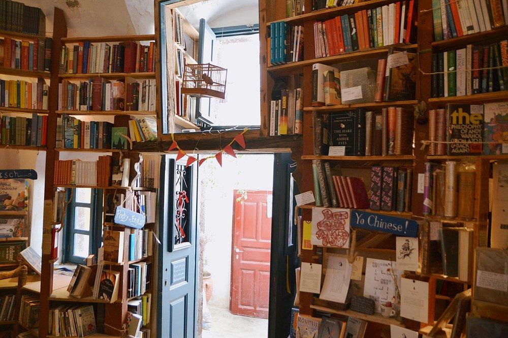 This Santorini Bookshop, Atlantis Books, has just the right amount of chaos.