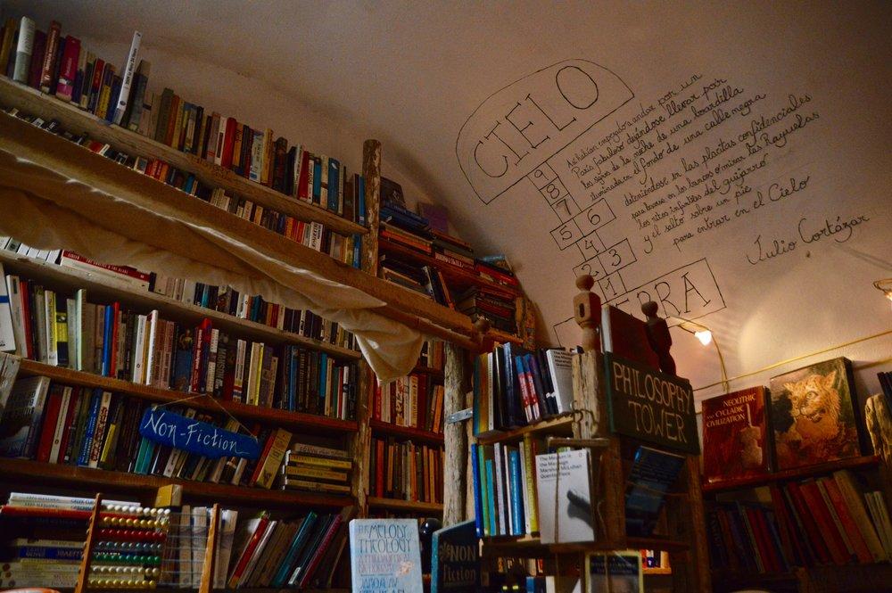 This Santorini bookshop, Atlantis Books, has a philosophy tower.