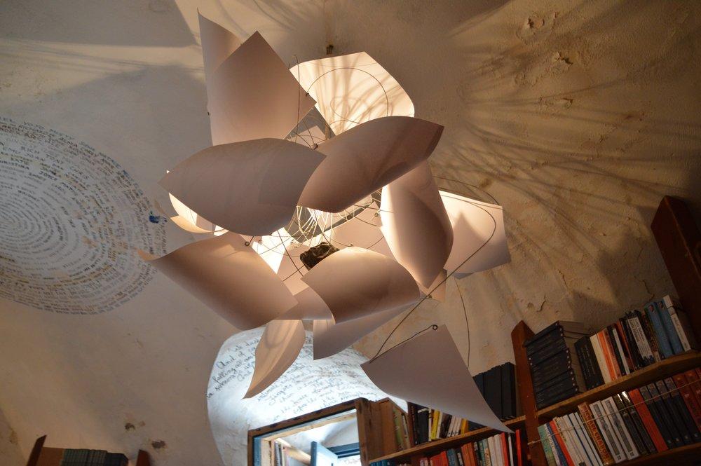 This Santorini bookshop, Atlantis Books, has ornaments galore.