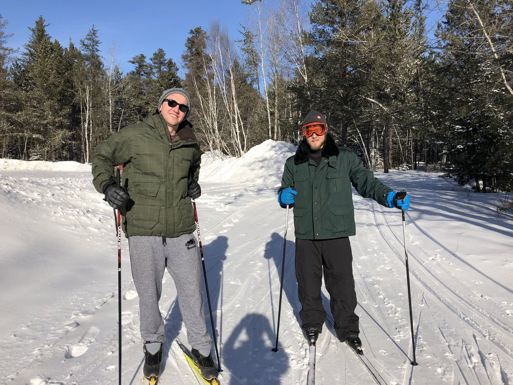 Cross-country skiing at Onaping Falls Nordics Ski Club was a definitely highlight of our winter camping stay at Windy Lakes Provincial Park, a northern ontario campground.
