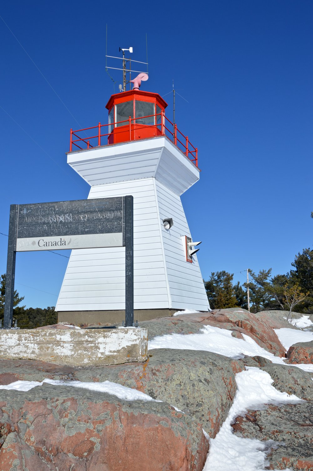 The lighthouse in Killarney, Ontario, great for hiking.