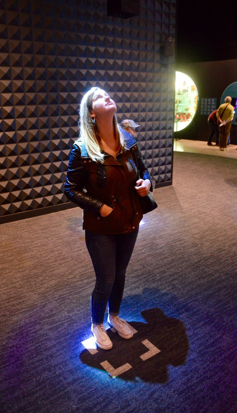 Bri enjoying the Canada Science and Technology Museum!
