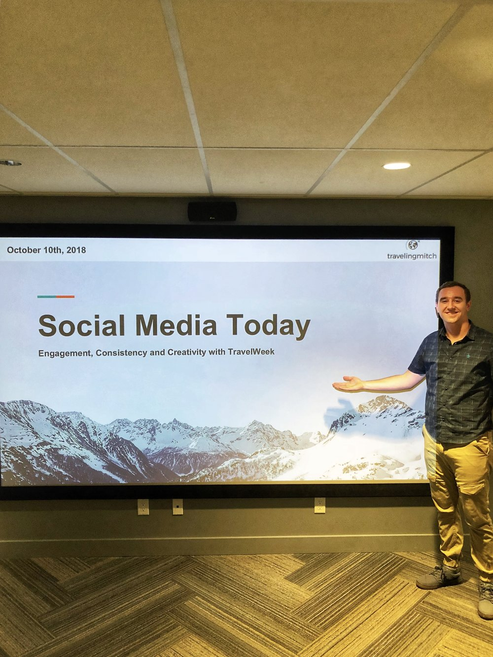 "I led this seminar on October 11th, 2018 and ""Social Media Today,"" which featured a comprehensive overview of modern trends on Instagram, Twitter, Facebook and the like."