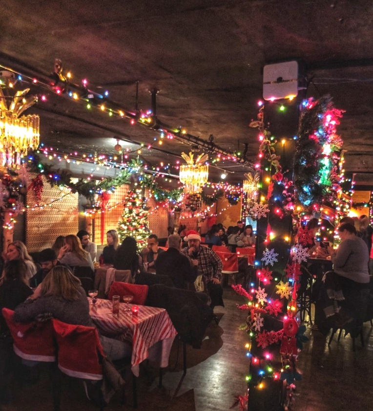 The Miracle on Queen Street Pop Up Bar is one of the top things to do in the winter in Toronto