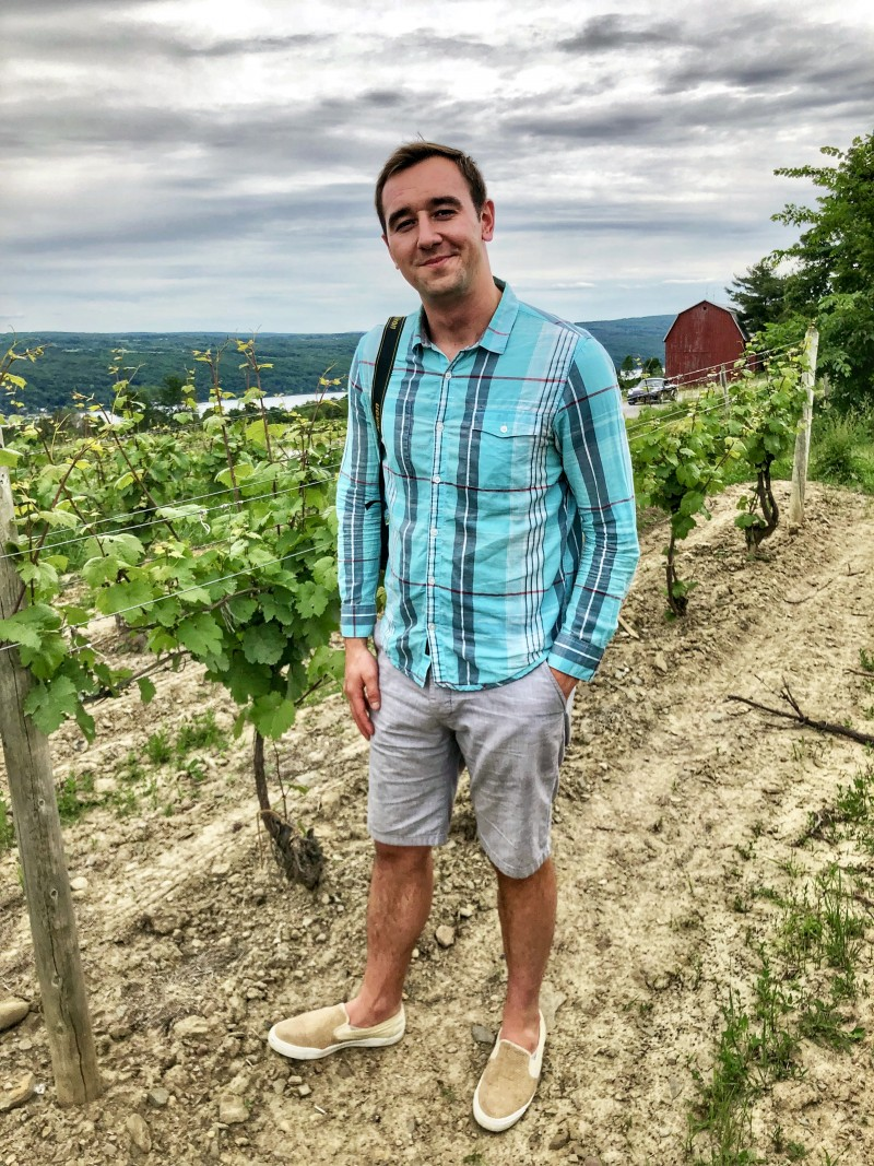 On the Keuka Lake Wine Train in Finger Lakes Wine Country