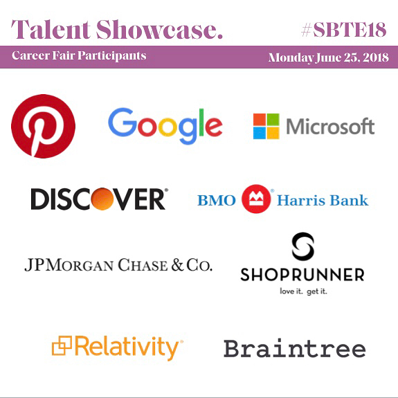 We're excited to welcome everyone joining us this Monday, June 25, 2018 at The #SBTE18 Talent Showcase. This career fair is designed to connect professionals in tech with companies on the hunt for entry-level and mid-management candidates looking to fuel the next step in their tech careers! 📲 to see our participating companies and corporate partners! RSVP via the link in our bio! - #SBTE18 #BlackTechMecca