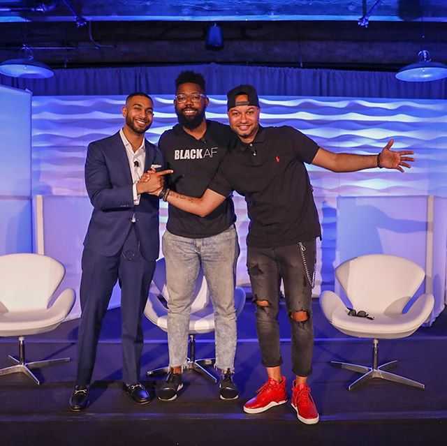 "Snapshots from our ""Power Plays"" ACE Talk featuring @rubenharris and two @verysmartbros (@panamajackson & @dyoungchamp) fueling the narrative of Blacks in media. #SBTE18 #BlackTechMecca"