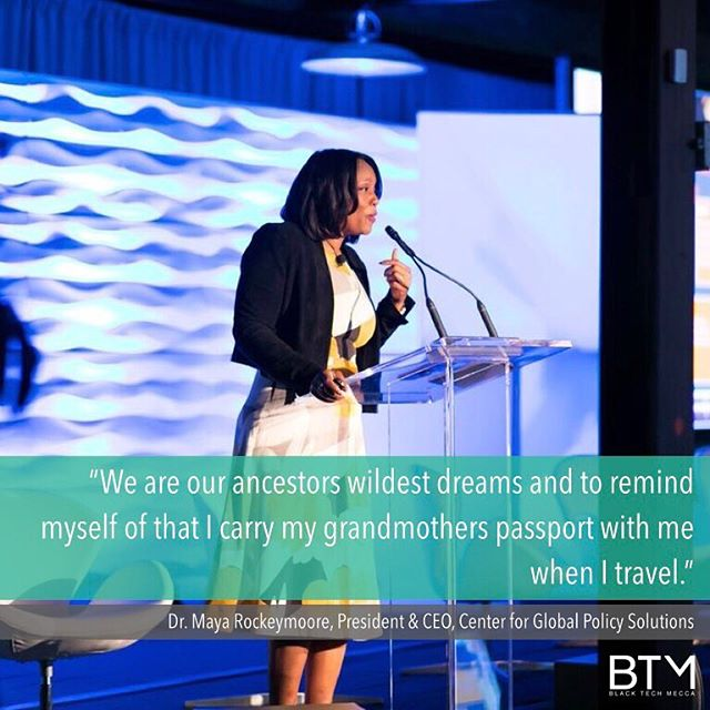 We are the wildest dreams of our ancestors, and technology is our tool to continue propelling forward. Thank you, Dr. Maya Rockeymoore.  #BlackTechMecca #SBTE18