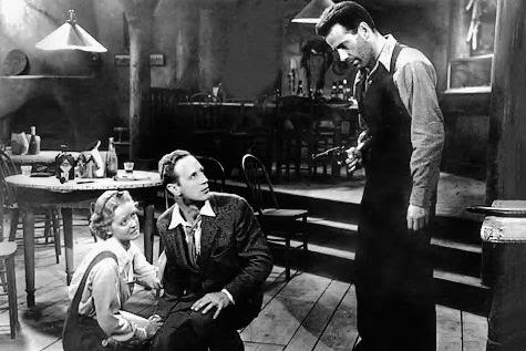 "The acting in ""The Petrified Forest"" is more of an attraction than the fact it was shot in 1936"