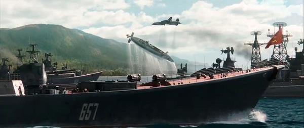 The film builds to an action-heavy reimagining of the Cuban Missile Crisis.
