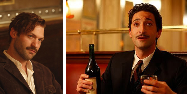 Corey Stoll as Ernest Hemingway and Adrien Brody as Salvador Dali