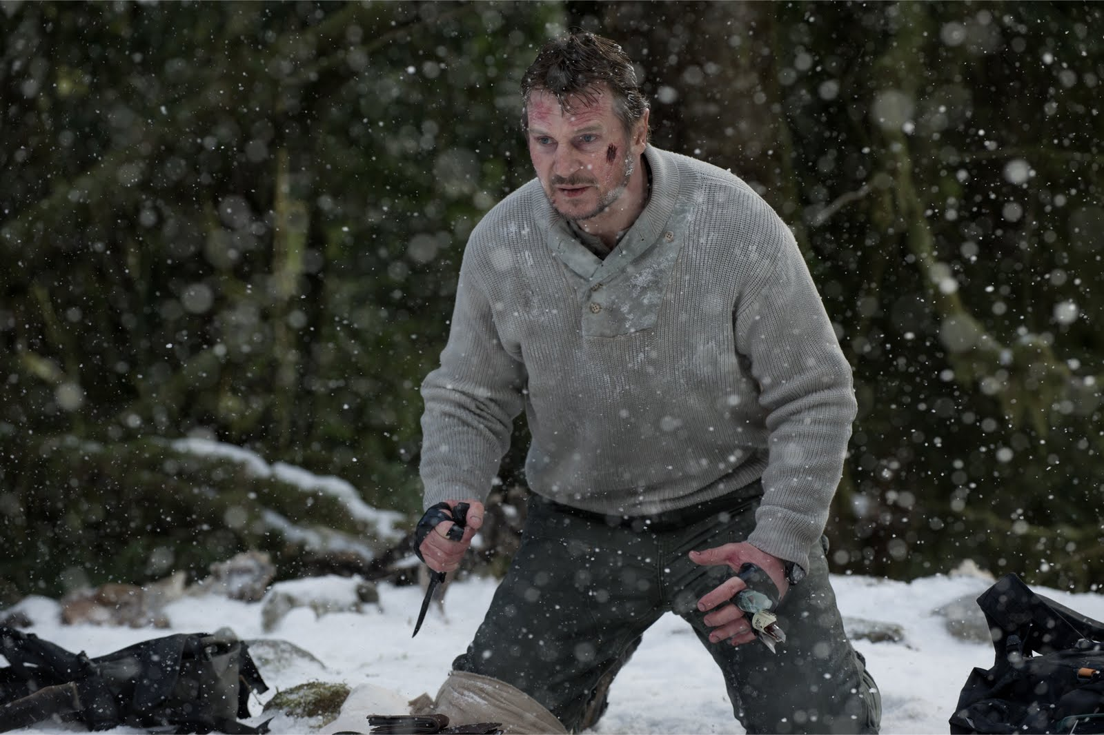 Liam Neeson as Ottway in 'The Grey'