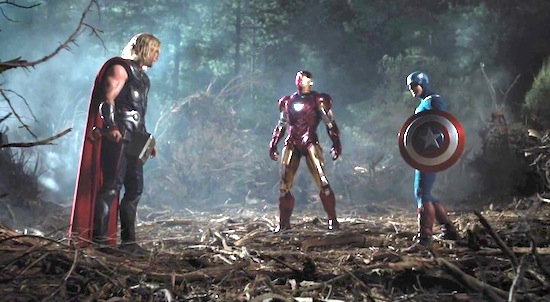 Couldn't Cap call in some backup? Pictured: a still from 2011's 'The Avengers'.