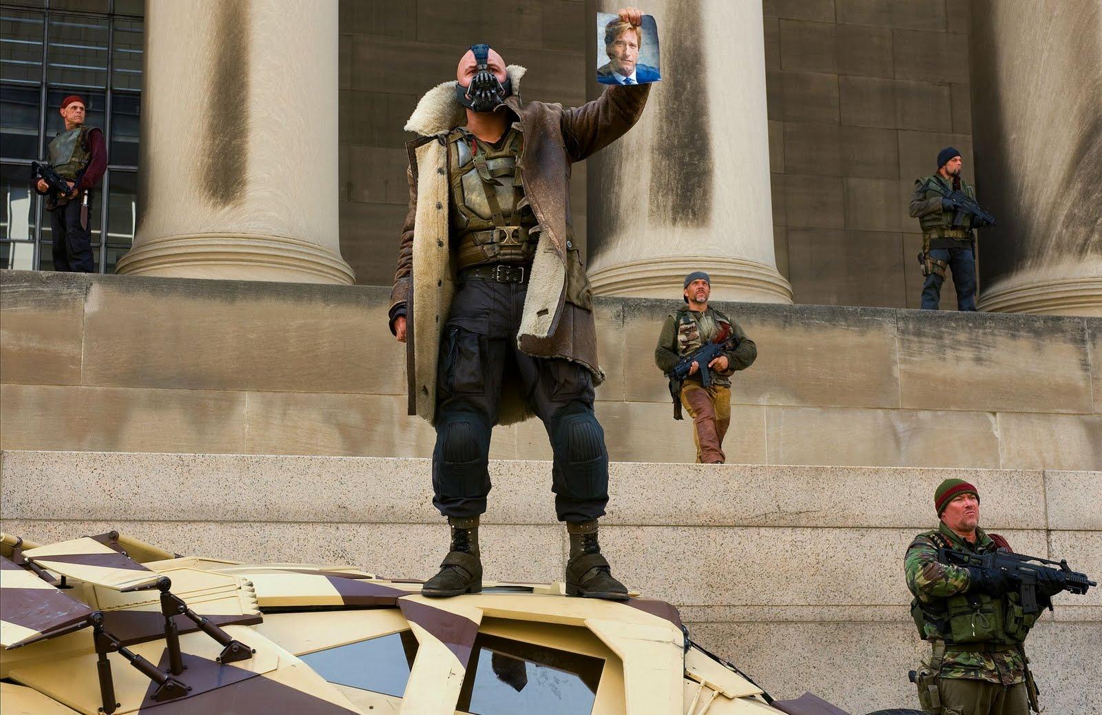 Tom Hardy stars as Bane in 'The Dark Knight Rises'.