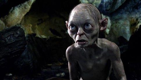 Andy Serkis plays Sméagol/Gollum, the tortured owner of the Ring