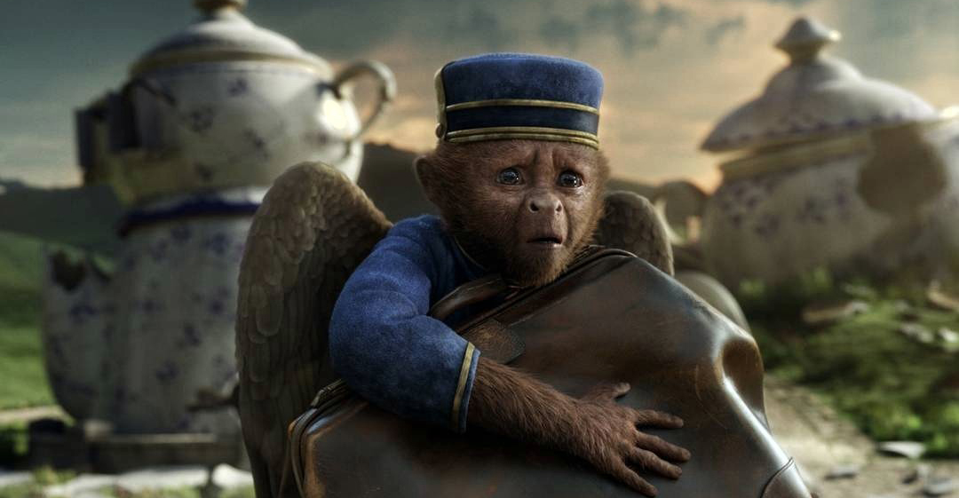 Finlay the flying monkey (Zach Braff) is one of many whimsical friends helping Oz on his adventure