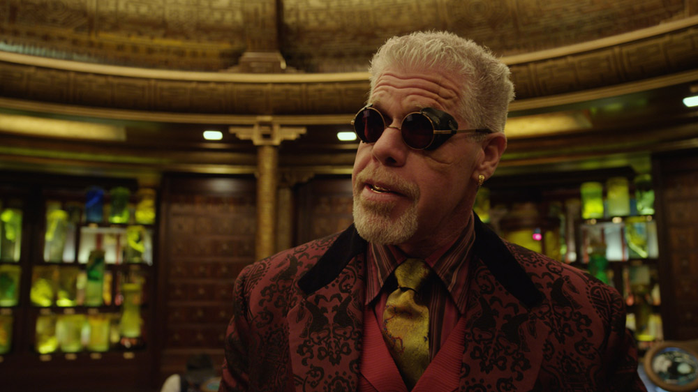 Ron Perlman appears as Hannibal Chau, a black-market dealer of Kaiju byproducts