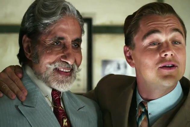 "Amitabh Bachchan as Meyer Wolfsheim and Leonardo DiCaprio as Jay Gatsby in ""The Great Gatsby"""