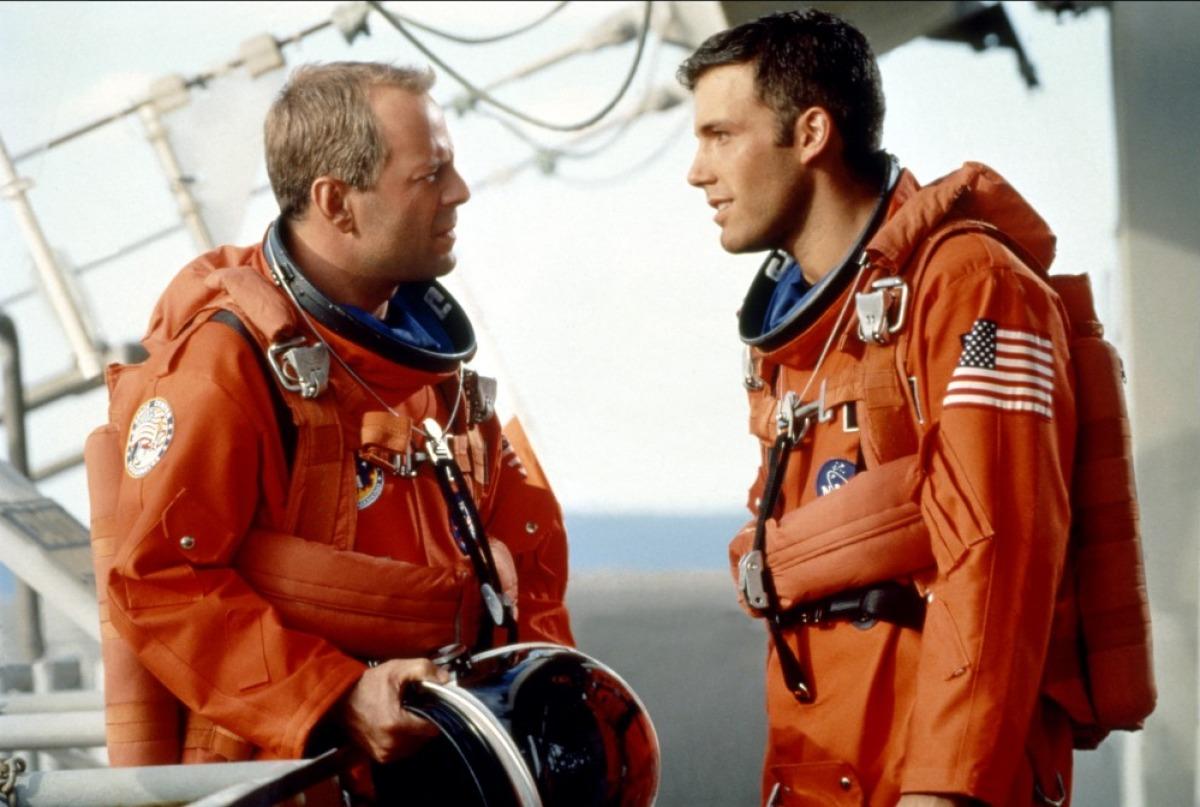 Bruce Willis and Ben Affleck in 'Armageddon'