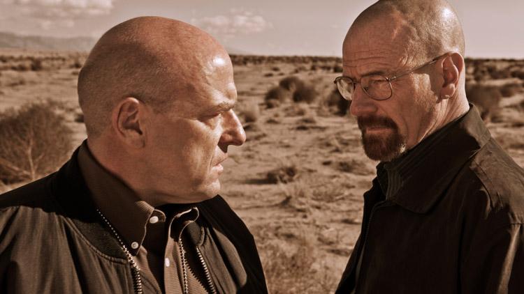 Dean Norris as Hank and Bryan Cranston as Walt on 'Breaking Bad'