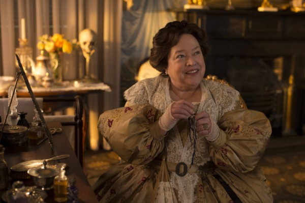 Kathy Bates appears in one of the flashback scenes from the third season.