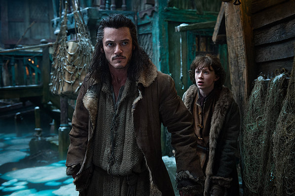 Luke Evans as Bard, one of the only characters not motivated by wealth.