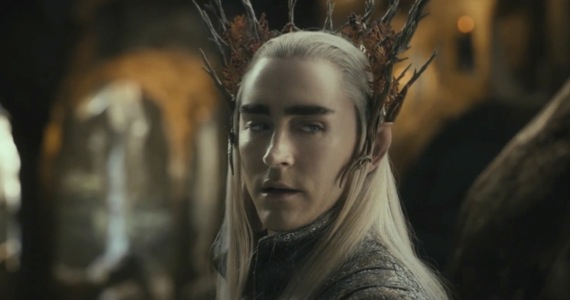 Lee Pace as Thranduil, king of the Wood Elves, who are just as crazy about treasure as the dwarves.