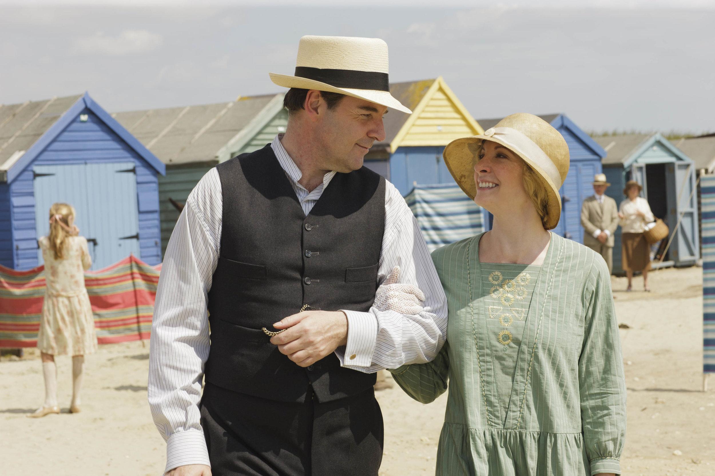 Brendan Coyle and Joanne Froggatt as Mr. and Mrs. Bates