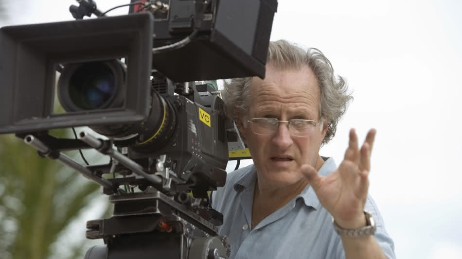 'Vice' director Michael Mann on the set of the film.
