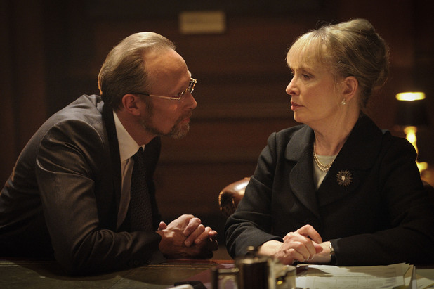 Lars Mikkelson as Charles Augustus Magnussen and Lindsay Duncan as Lady Smallwood.