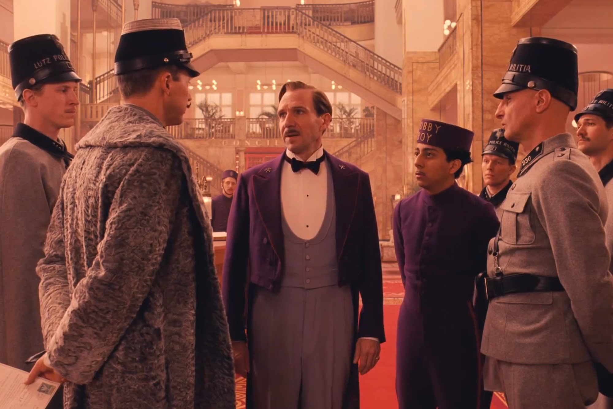 Ralph Fiennes, Edward Norton and Tony Revolori star in 'The Grand Budapest Hotel'.