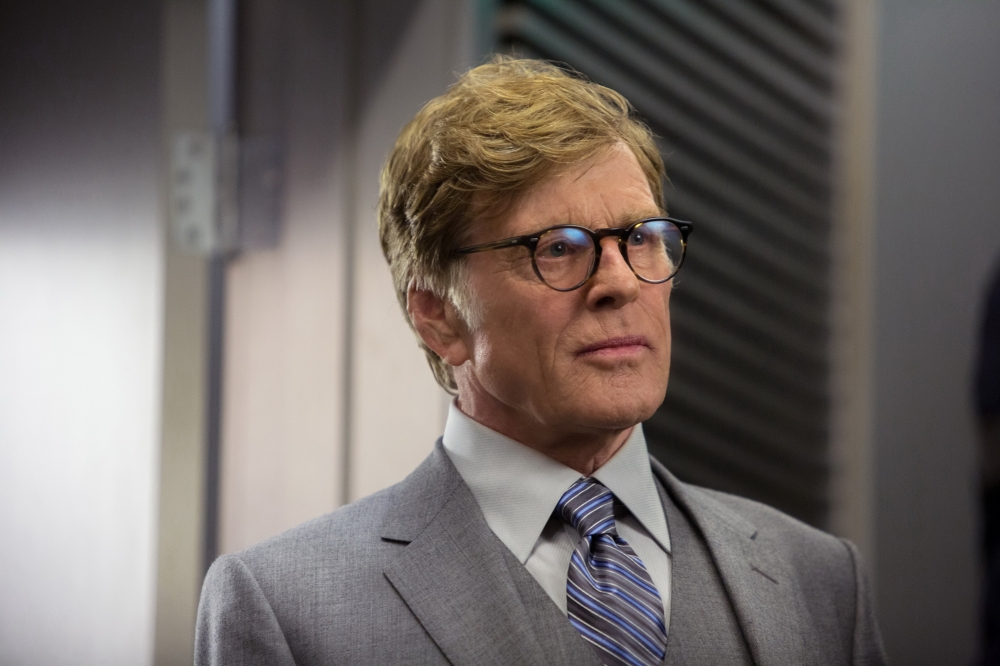 Robert Redford delivers some subtle chills as bureaucrat Alexander Pierce.