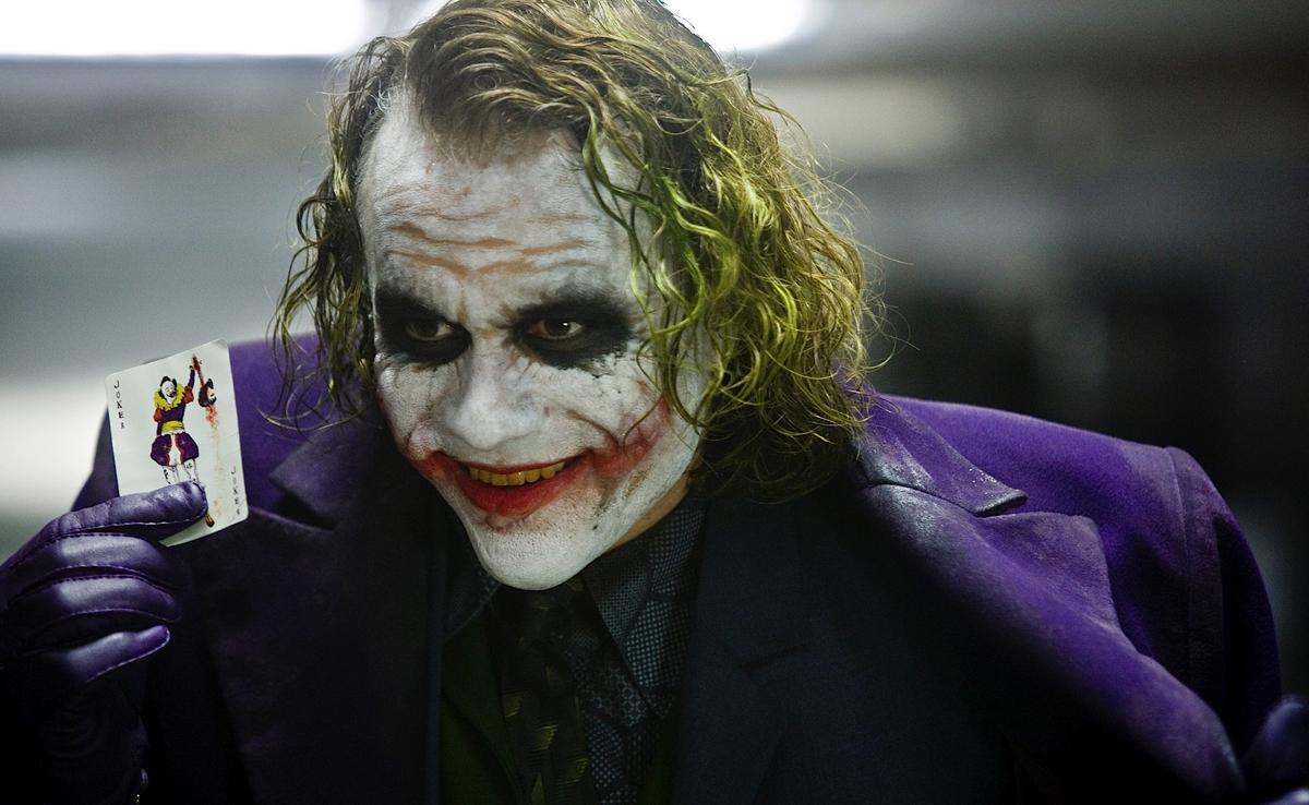 Heath Ledger stars as the Joker in 'The Dark Knight'