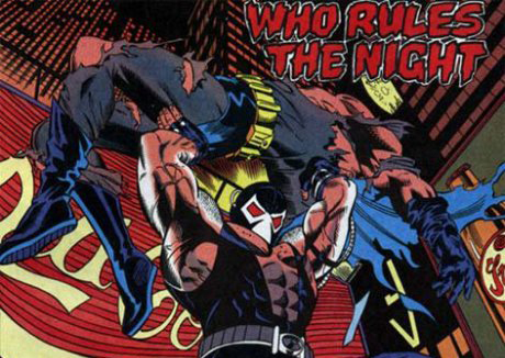 A panel from the 1993-1994 comic book arc Batman: Knightfall.