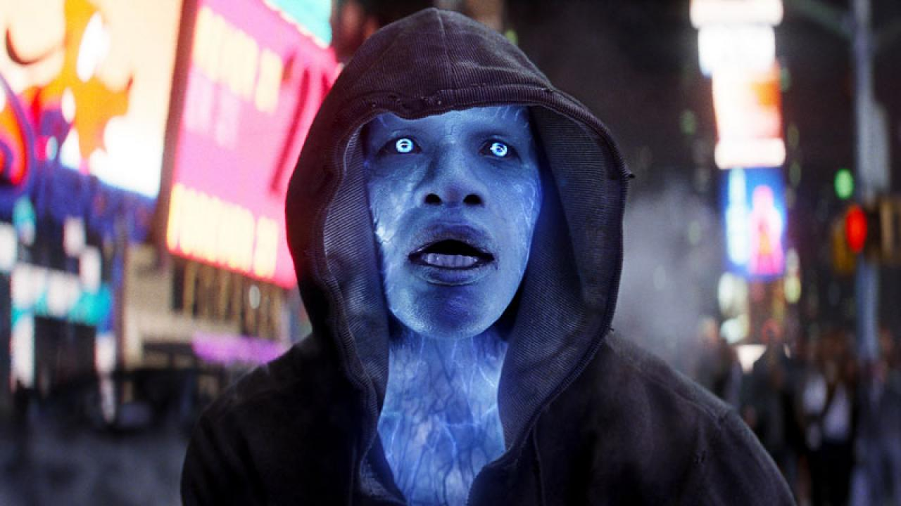 Jamie Foxx as Electro, one of two main villains in the picture.