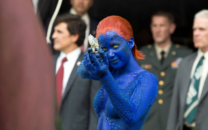 Jennifer Lawrence returns as the shape-shifting Raven/Mystique