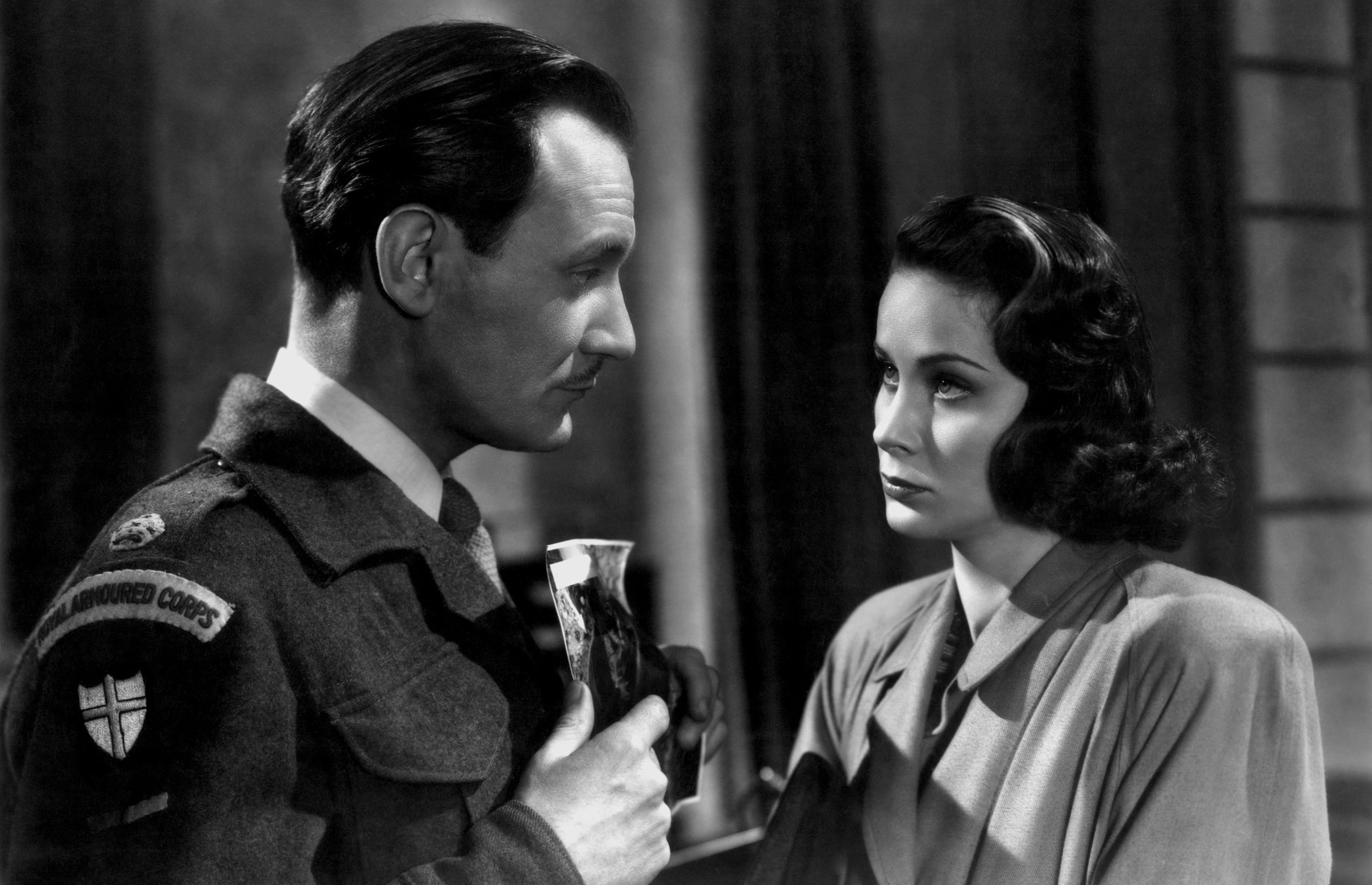 Trevor Howard as Major Callaway and Alida Valli as Anna Schmidt.
