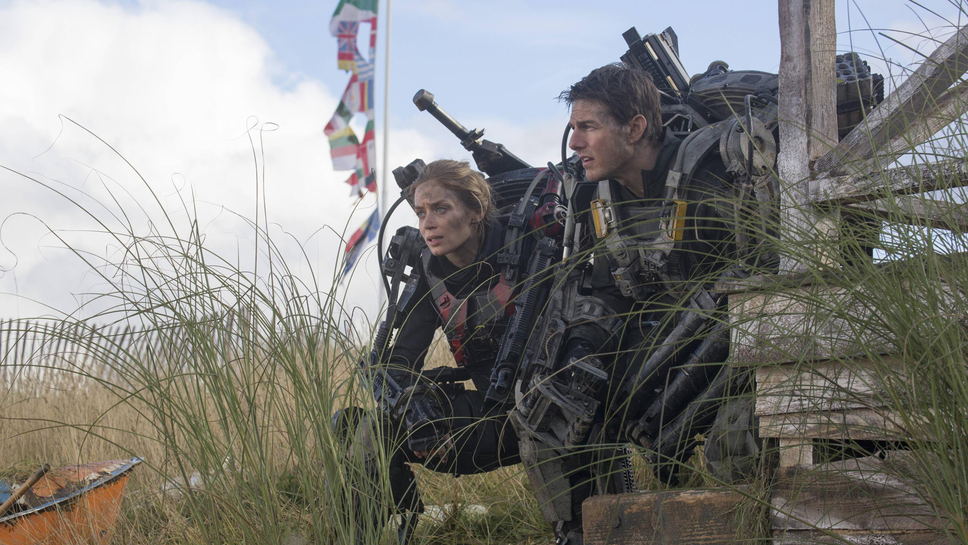 Emily Blunt and Tom Cruise star in 'Edge of Tomorrow'.