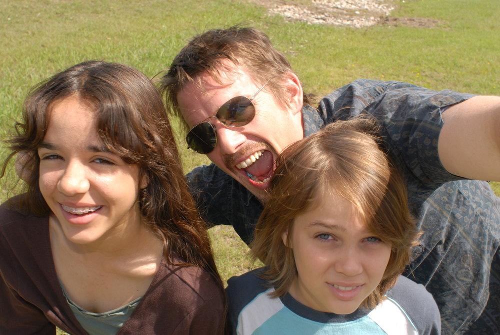 'Boyhood' also stars Lorelei Linklater (left) and Ethan Hawke (centre)
