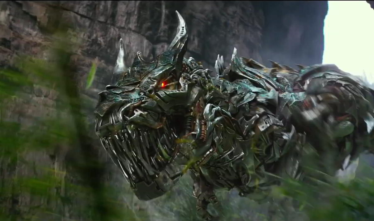 The Dinobots make a disappointing late appearance in the new film.