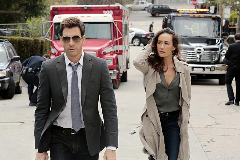 Dylan McDermott and Maggie Q star in 'Stalker'