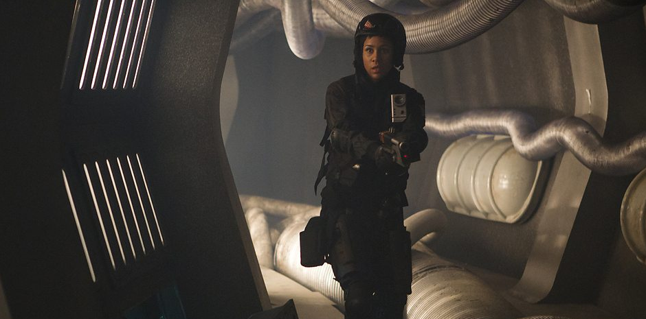 "Zawe Ashton as rebel soldier Journey Blue in ""Into the Dalek"""
