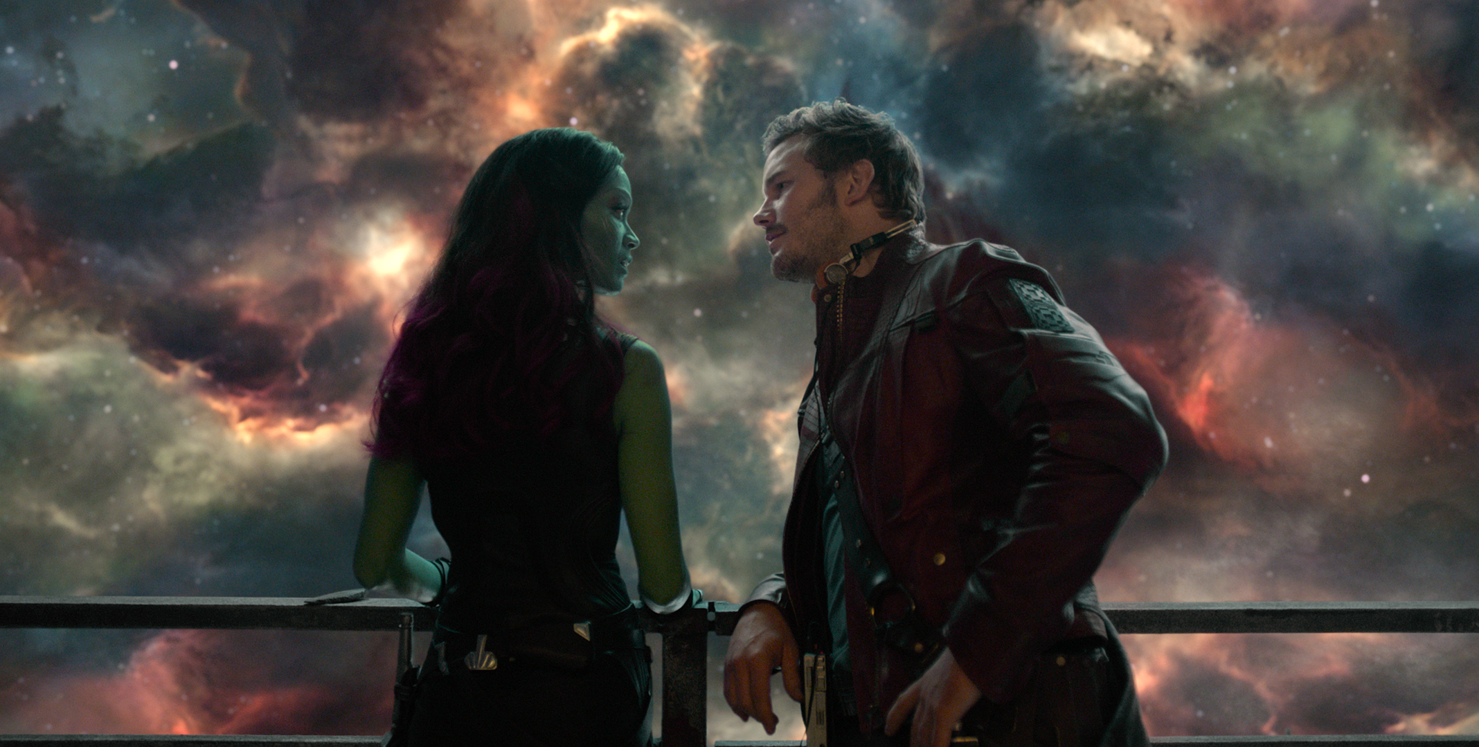 Zoe Saldana and Chris Pratt star in 'Guardians of the Galaxy'