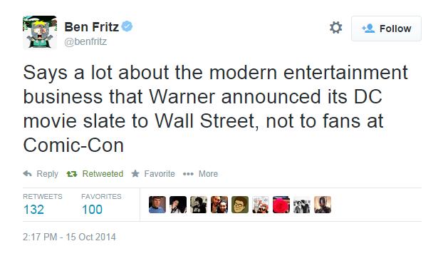 Ben Fritz tweet